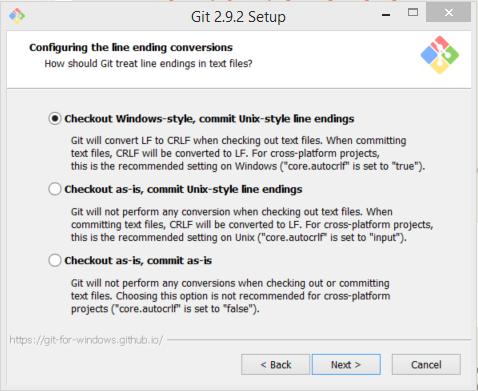 Git Line Ending Conversions